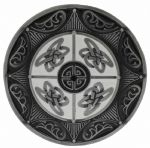 Round Celtic 8 Point Star Belt Buckle with display stand (LB2)